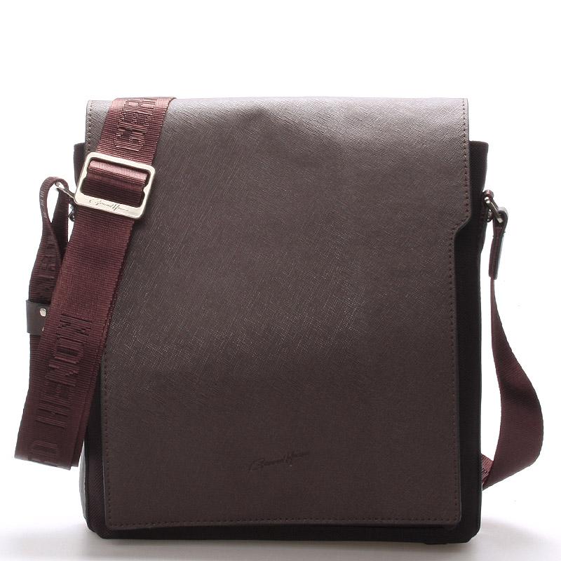 Pánská kožená taška přes rameno hnědá - Gerard Henon Curtiss hnědá