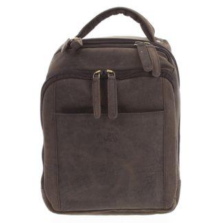 Pánský kožený batoh tmavě hnědý - WILD Josemar hnědá