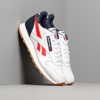 Reebok Classic Leather MU White/ Collegiate Navy/ Radiant Red