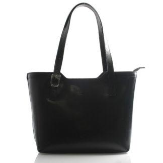 Černá elegantní kožená kabelka ItalY Melisa černá