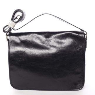 Větší pracovní kožená taška černá - ItalY Equado Achilles černá