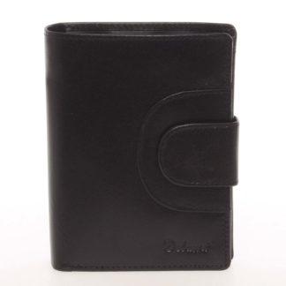 Kožená módní černá peněženka pro muže - Delami Raynard černá