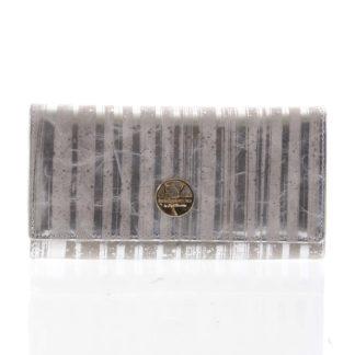 Elegantní dámská kožená peněženka stříbrná - Rovicky 64003 stříbrná