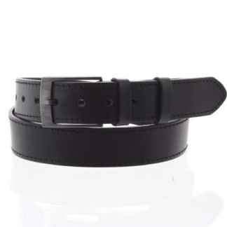 Pánský kožený opasek jeansový černý - PB Meroz 115 černá