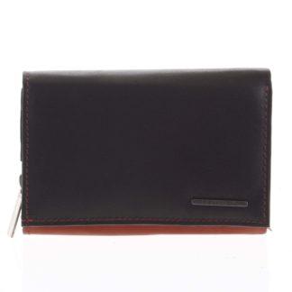 Dámská kožená peněženka červeno černá - Bellugio Averi červená