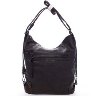 Dámská kabelka batoh kávově hnědá - Romina Zilla hnědá