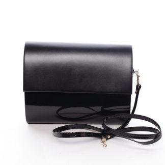 Střední dámské elegantní psaníčko černé lesklé - Delami SanDiego černá
