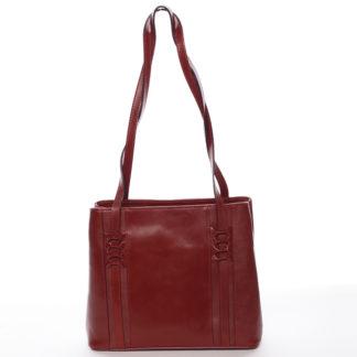 Červená kožená kabelka přes rameno - ItalY Zosima červená