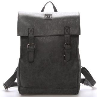Módní stylový střední batoh černý - Enrico Benetti Traverz   černá