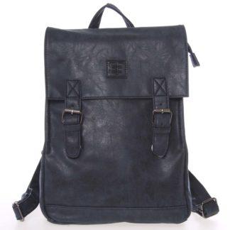 Módní stylový střední batoh tmavě modrý - Enrico Benetti Traverz   modrá