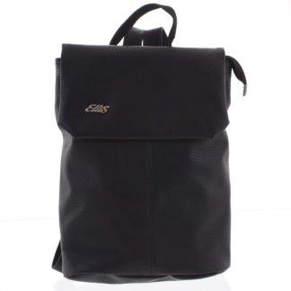 Větší měkký dámský moderní černý batoh - Ellis Elizabeth JR černá