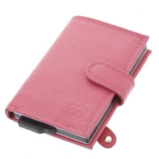 Kožené pouzdro na karty růžové - Double-D Jokim růžová