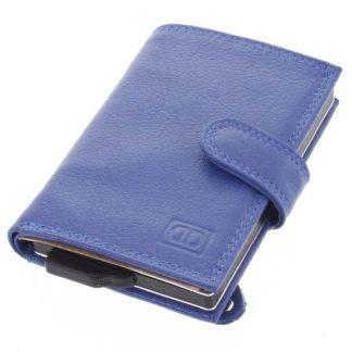 Kožené pouzdro na karty modré - Double-D Jokim modrá