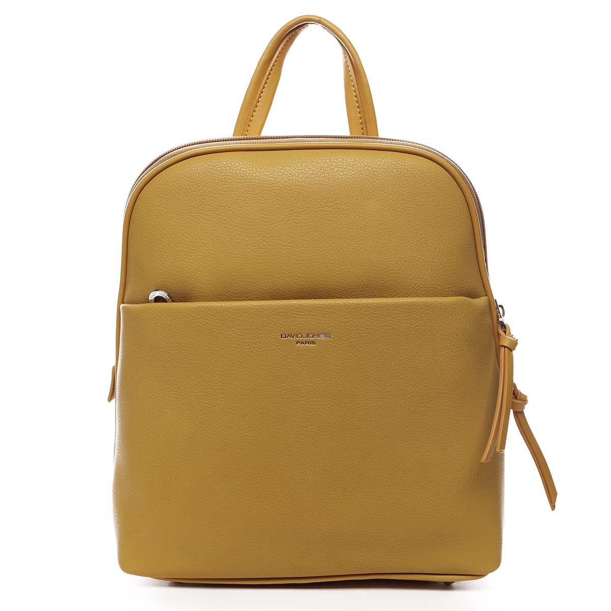Dámský městský batoh žlutý - David Jones Eliah žlutá