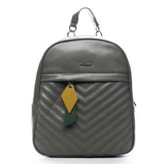 Dámský batoh bledě zelený - David Jones Ullyus zelená