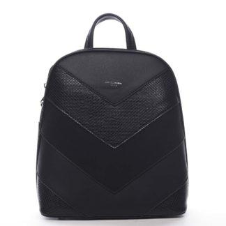 Dámský městský batoh černý - David Jones JeanBell černá