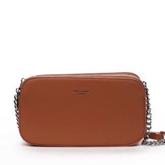 Malá dámská crossbody kabelka oranžová - David Jones Lily oranžová