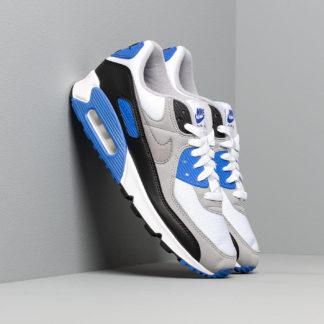 Nike Air Max 90 White/ Particle Grey-Hyper Royal-Black