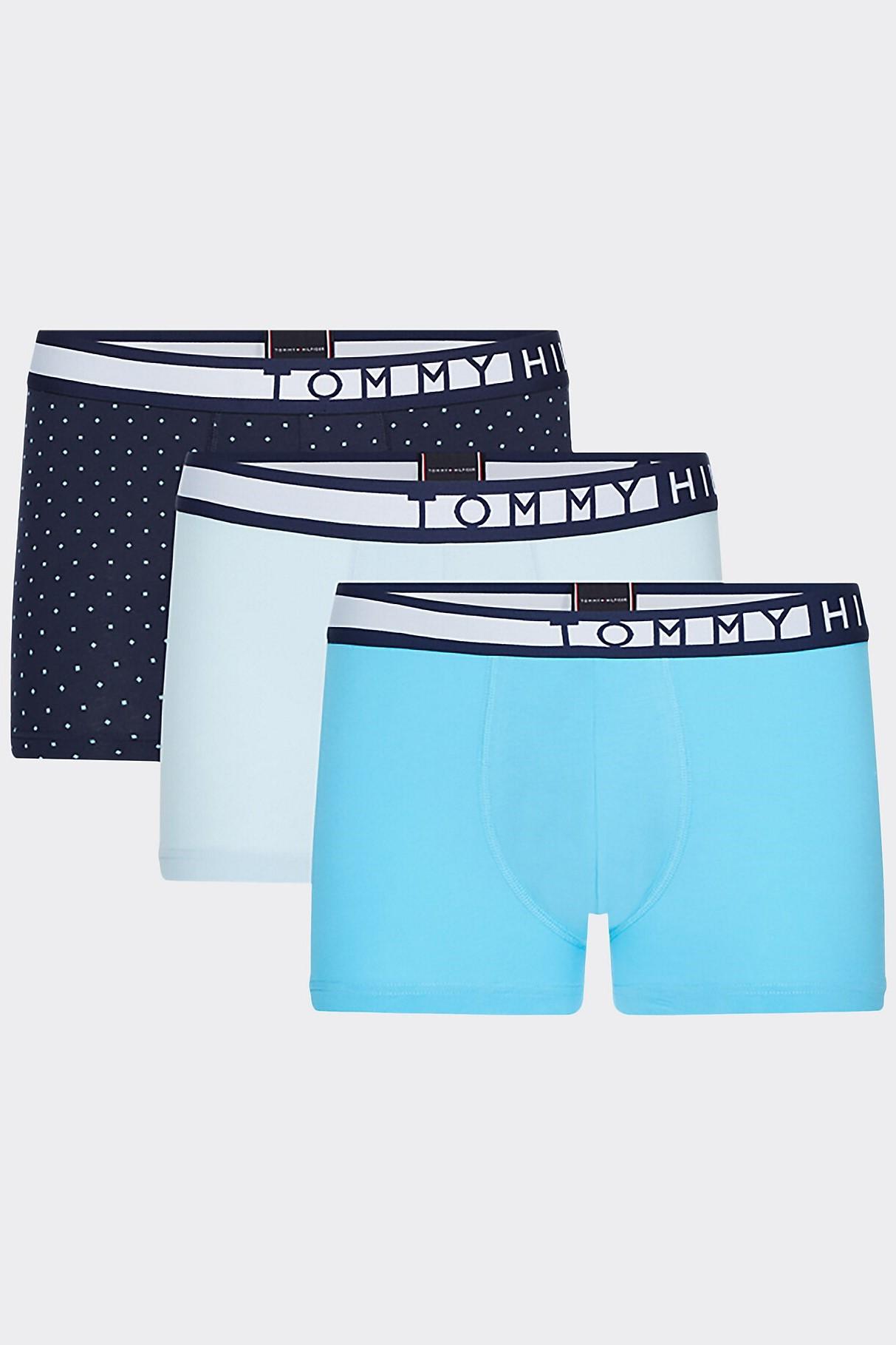 Tommy Hilfiger modrý 3 pack boxers 3P Trunk Print