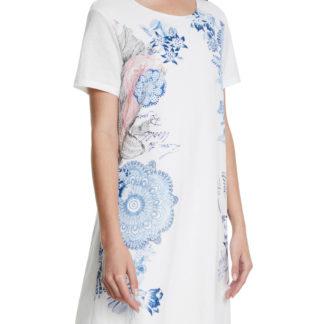 Desigual bílé šaty Vest Charlotte