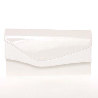 Větší originální dámské psaníčko bílé lesklé - Delami Geelong bílá