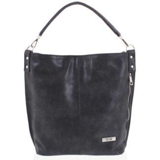 Elegantní dámská kabelka přes rameno tmavě šedá se vzorem - Ellis Negina šedá