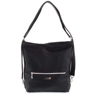 Módní dámská kabelka batoh černá - Ellis Patrik černá