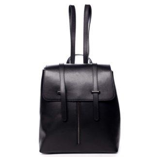 Dámský kožený batoh černý - ItalY Waterfall černá