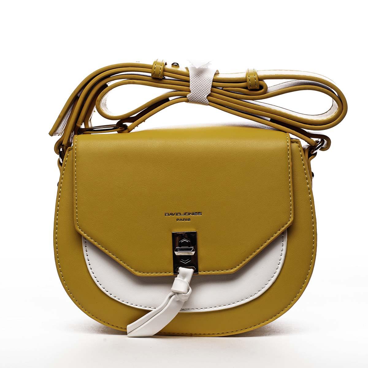 Dámská crossbody kabelka žlutá - David Jones Rapida žlutá