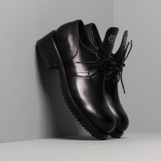 Raf Simons Laced Up Shoe Men Black Cow Leather 42