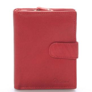 Dámská kožená peněženka červená - Delami Celestiel červená
