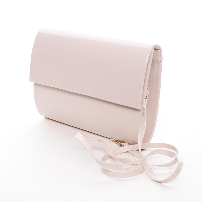 Střední dámské elegantní psaníčko pudrové matné - Delami SanDiego růžová
