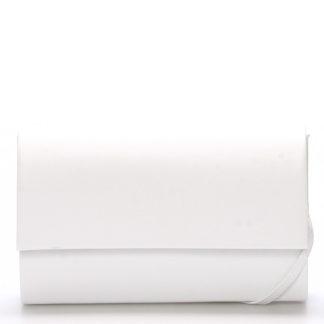 Stylové dámské psaníčko bílé lesklé - Delami Boston bílá