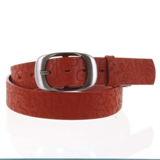Dámský kožený opasek červený - PB Spar 95 červená