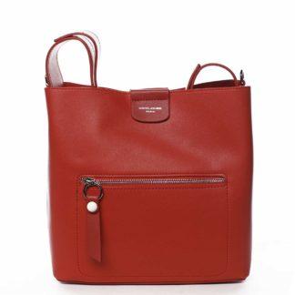 Dámská kabelka přes rameno červená - David Jones Salma červená