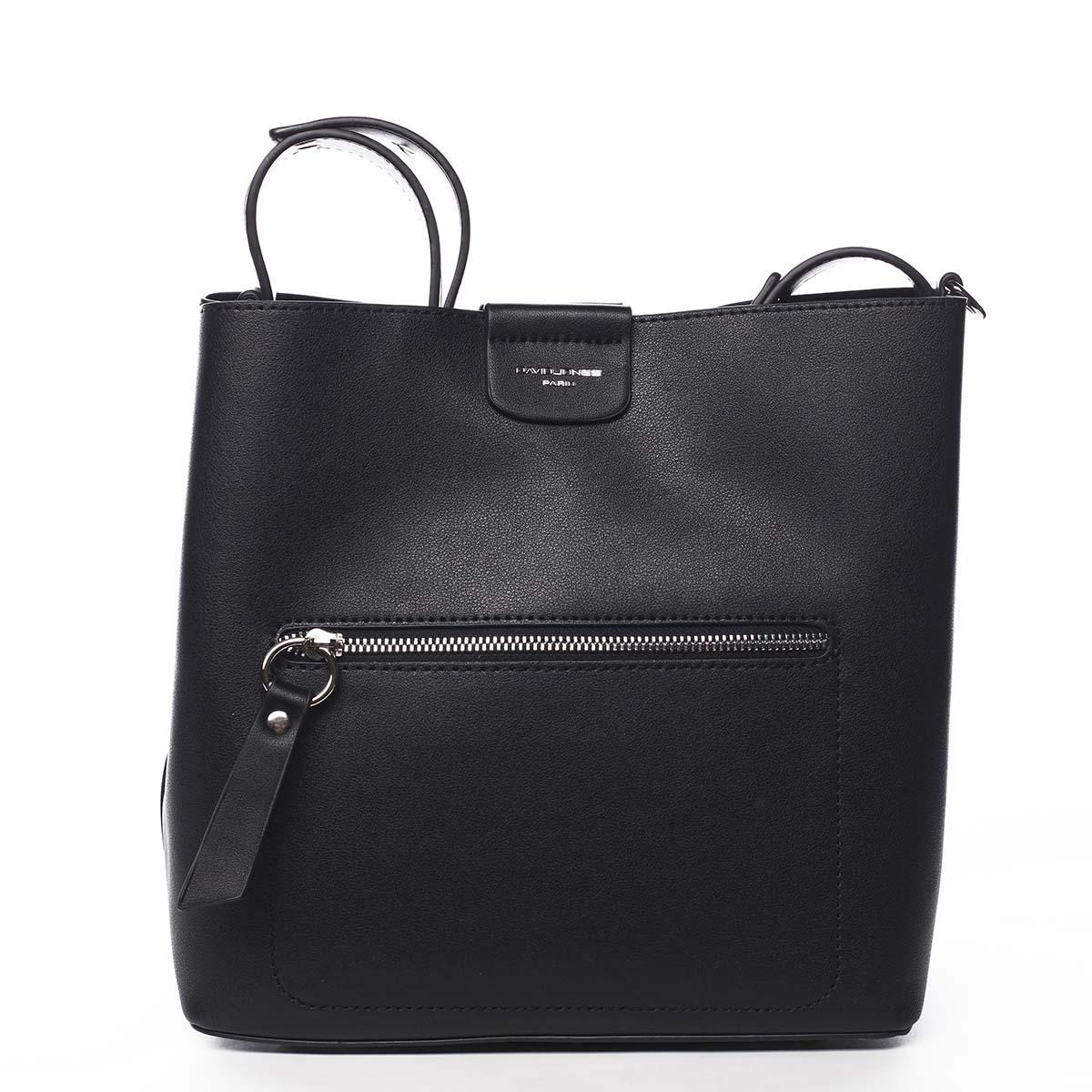 Dámská kabelka přes rameno černá - David Jones Salma černá