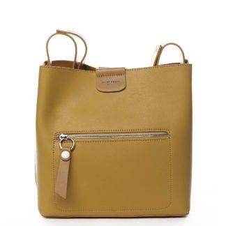 Dámská kabelka přes rameno žlutá - David Jones Salma žlutá