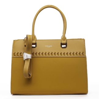 Dámská kabelka do ruky žlutá - David Jones Tosmal žlutá