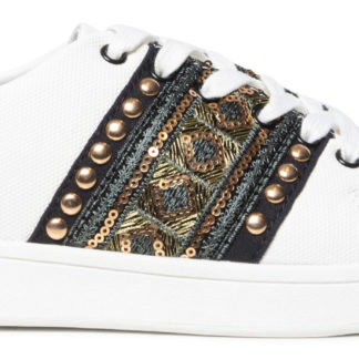 Desigual bílé tenisky Shoes Cosmic Exotic Gold