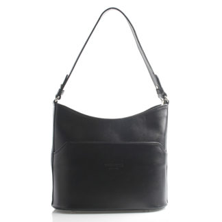 Černá kožená kabelka přes rameno ItalY Lydia černá