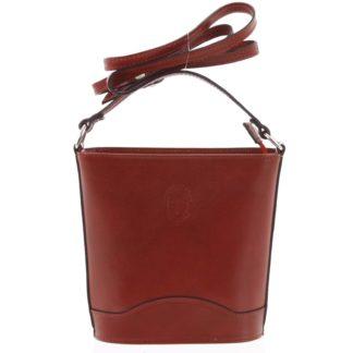 Červená kožená crossbody kabelka ItalY Bryana Dark červená