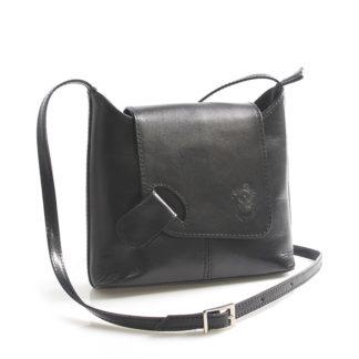 Černá kožená crossbody kabelka ItalY Misty černá