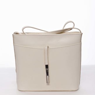 Dámská kožená crossbody kabelka béžová - ItalY Aneta béžová