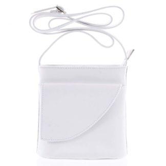 Dámská kožená crossbody kabelka bílá - ItalY Cora Light bílá