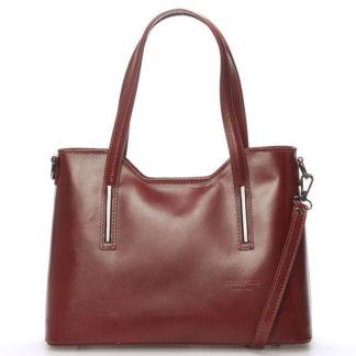 Střední kožená kabelka hnědá - ItalY Chevell hnědá