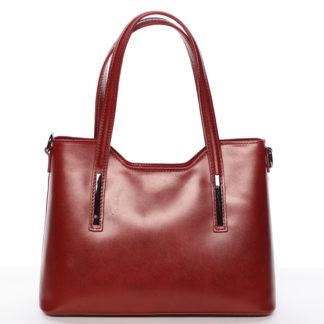 Střední kožená kabelka červená - ItalY Chevell červená