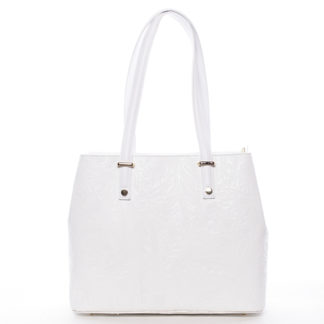 Exkluzivní dámská kožená kabelka bílá - ItalY Logistilla bílá