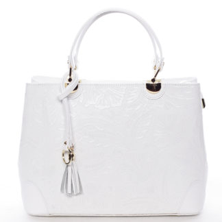 Originální dámská kožená kabelka bílá - ItalY Mattie bílá