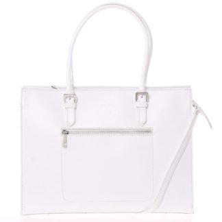 Moderní a elegantní dámská kožená kabelka bílá - ItalY Madelia bílá