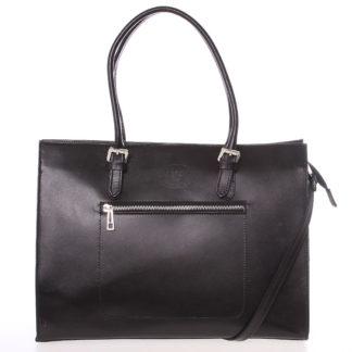Moderní a elegantní dámská kožená kabelka černá - ItalY Madelia černá